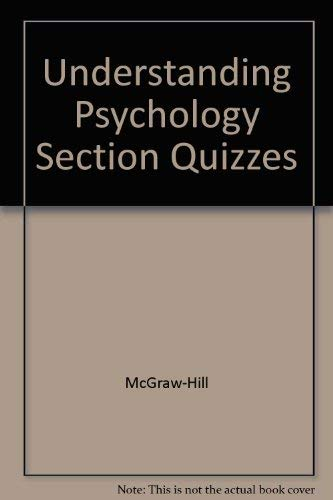Understanding Psychology: Section Quizzes With Answer Keys (2002 Copyright): Staff