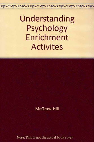9780078223945: Understanding Psychology Enrichment Activites