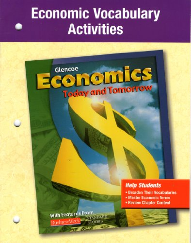 9780078224829: Economics Today and Tomorrow Economic Vocabulary Activities