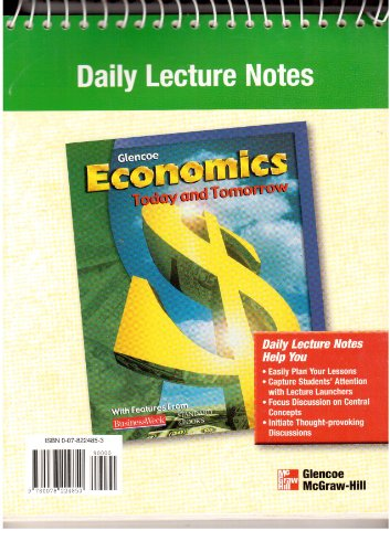 9780078224850: Economics Today and Tomorrow: Daily Lecture Notes and Discussion Notes
