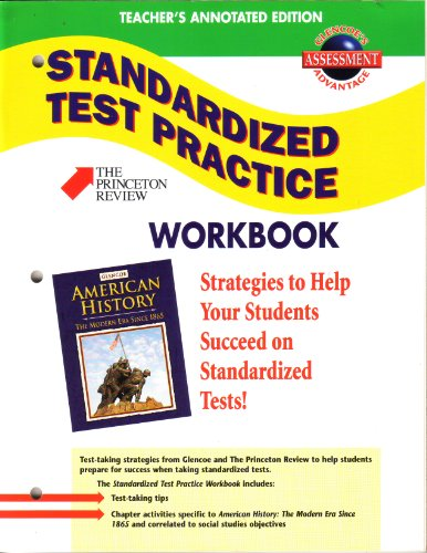 9780078225000: Glencoe American History:The Modern Era Since 1865:Teacher's Annotated Standardized Test Practice Workbook