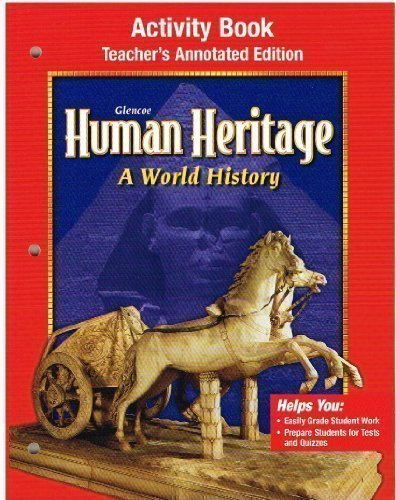 9780078225253: Human Heritage Activity Book Teacher's Annotated Edition