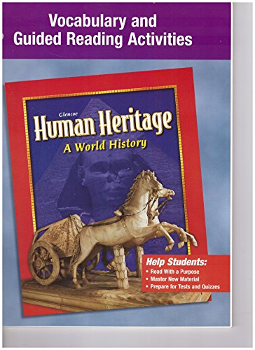 9780078225284: Glencoe Human Heritage, Vocabulary and Guided Reading Activities