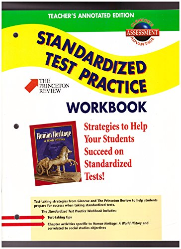 9780078225390: Human Heritage: A World History- Standardized Test Pratice Workbook, Teacher's Annotated Edition