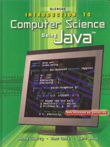 9780078225932: Introduction To Computer Science, Using Java, Student Edition (HS INTRO TO COMP JAVA)