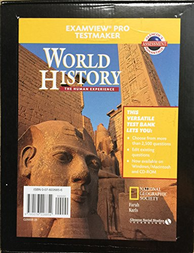 9780078226854: World History: The Human Experience Testmaker Pkg (Win/MAC) 2001