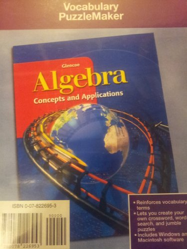 9780078226953: Algebra: Concepts and Applications, Vocabulary Puzzlemaker