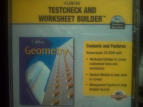 9780078226977: Geometry: Concepts and Applications, Testcheck and Worksheet Builder CD/Rom