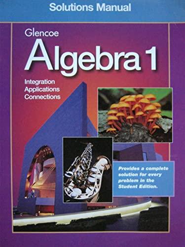9780078228988: Algebra 1 Solutions Manual