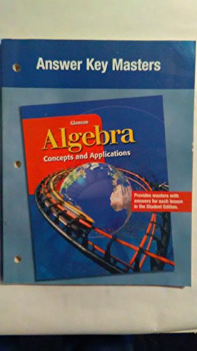 9780078230936: Algebra: Concepts and Applications, Answer Key Masters