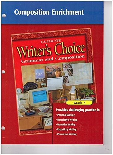 9780078232381: Writer's Choice Composition Enrichment Grade 7