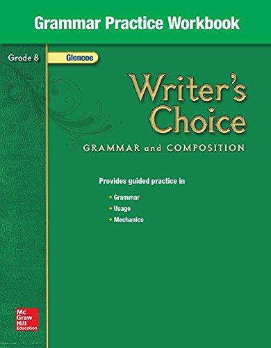 9780078233548: Writer's Choice Grammar Practice Workbook Grade 8