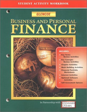 9780078237676: Business And Personal Finance: Student Activity Workbook