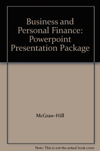 9780078237737: Business and Personal Finance: Powerpoint Presentation Package