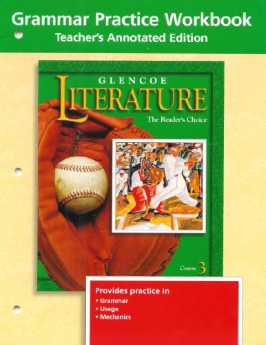 9780078239502: Grammar Practice Workbook Teachers Annotated Edition (Course 3)