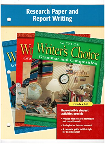 9780078241772: Writer's Choice Research Paper and Report Writing 6-8