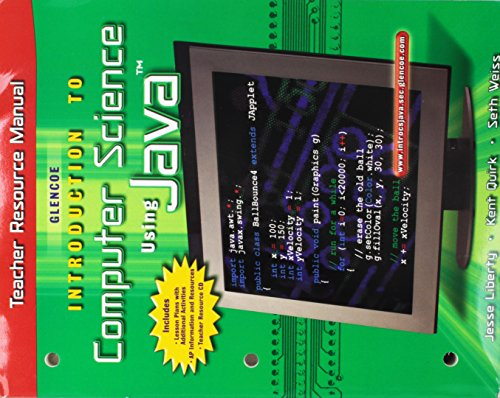 9780078245190: Introduction to Computer Science Using Java Teacher Resource Manual