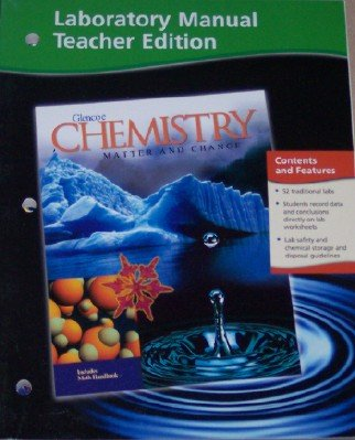 9780078245251: Chemistry, Laboratory Manual (Matter and Change)