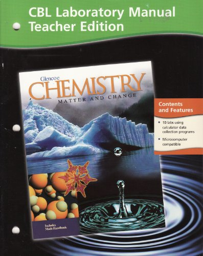 9780078245312: Laboratory Manual Teacher Edition Glencoe Chemistry Matter and Change