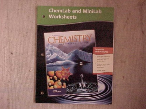 9780078245343: Chemistry: Matter and Change, Chemlab and Minilab Worksheets