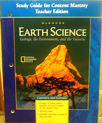 9780078245664: High School Earth Science: Geology, the Environment, and the Universe, Study Guide for Content Mastery