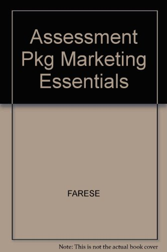 9780078249617: Assessment Pkg Marketing Essentials