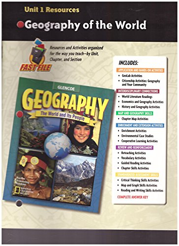 9780078249723: Geography: The World and Its People, Unit 1 Resources