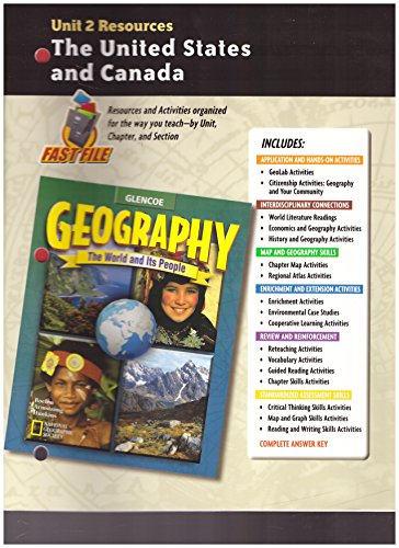 9780078249730: Geography: The World and Its People, Unit 2 Resources