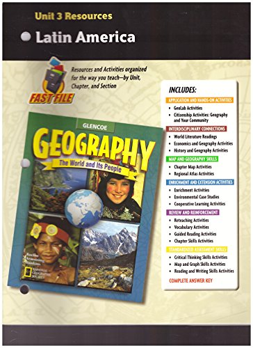 9780078249747: Unit 3 Resources Latin America (Glencoe Geography The World and Its People)
