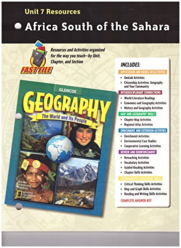 9780078249815: Geography: The World and Its People, Unit 7 Resources
