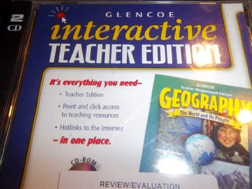 9780078250057: Glencoe Interactive Teacher's Edition Geography The World and It's People (CD-ROM)