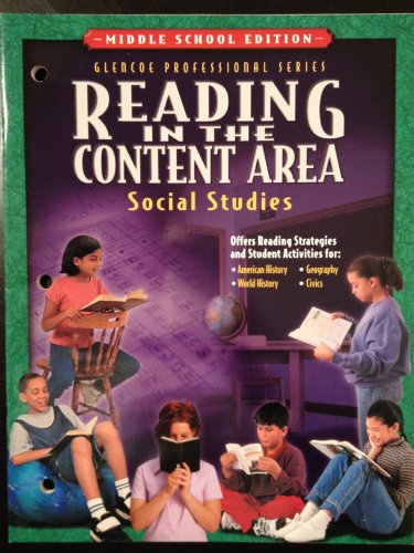 9780078250125: Reading in the Content Area. Social Studies. Middle School Series