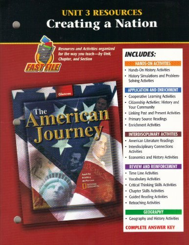 9780078252075: American Journey Unit 3 Resources: Creating a Nation