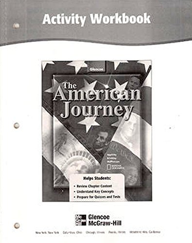 9780078252082: The American Journey Activity Workbook, Student Edition