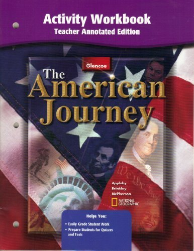 9780078252099: American Journey Activity Workbook Teacher Annotated Edition