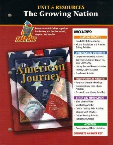 9780078252143: American Journey Unit 5 Resources