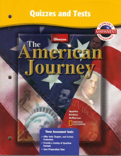 9780078252228: The American Journey: Quizzes and Tests