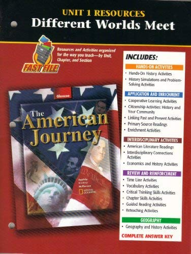 9780078252242: American Journey Unit 1 Resources
