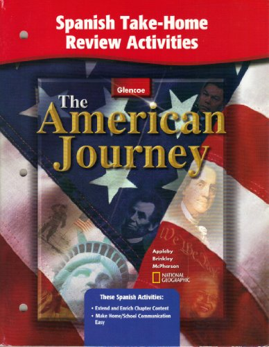 9780078252372: American Journey, Spanish Take-Home Review and Activities