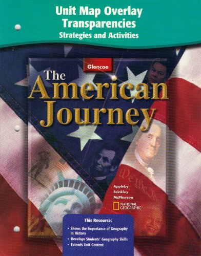 9780078252433: American Journey Mapping Overlay Transparency Strategies and Activities