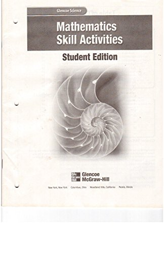 9780078254499: Mathematics Skill Activities: Student Edition