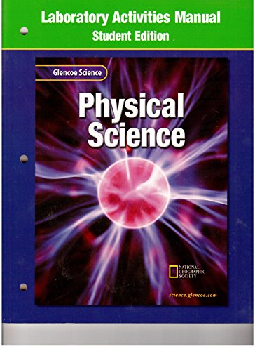 Physical Science Student Laboratory Activities Manual (9780078257209) by GLENCOE