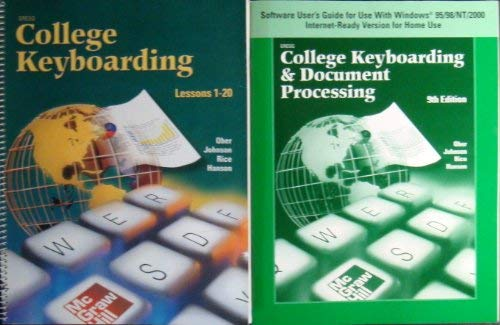 9780078257551: Gregg College Keyboarding & Document Processing (GDP), Lessons 1-20, Student Text