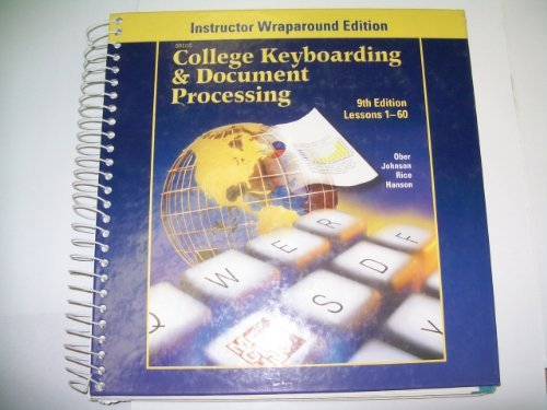 9780078257636: Gregg College Keyboarding & Document Processing: Lessions 1-60