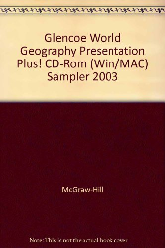 9780078258398: Glencoe World Geography Presentation Plus! CD-Rom (Win/MAC) Sampler 2003