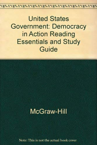 9780078259173: United States Government: Democracy in Action Reading Essentials and Study Guide