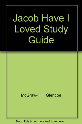 Jacob Have I Loved Study Guide: Mcgraw-Hill-Glencoe Staff