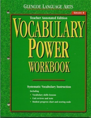Glencoe Language Arts Vocabulary Power Workbook, Grade: McGraw-Hill