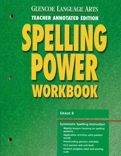 9780078262432: Glencoe Language Arts Spelling Power Workbook, Grade 8, Teacher Annotated Edition