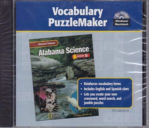 9780078266133: Glencoe Science Alabama Grade 6 Puzzlemaker 2002